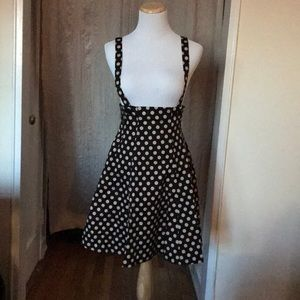 NWOT ModCloth Polka Dot Skirt with Suspenders S